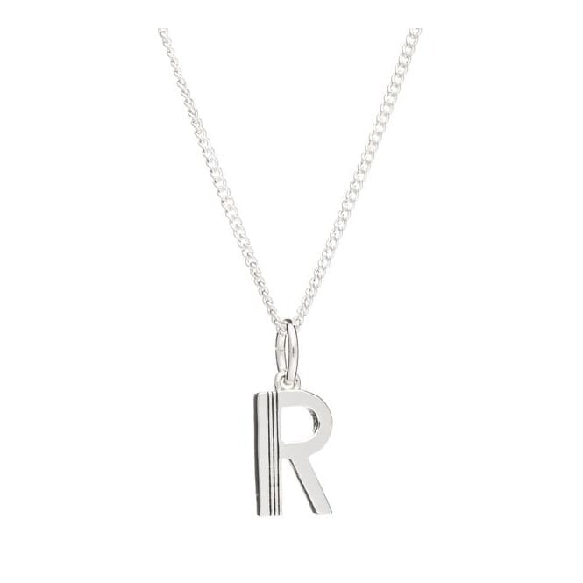 Rachel Jackson London Initial Necklace in Sterling Silver - R