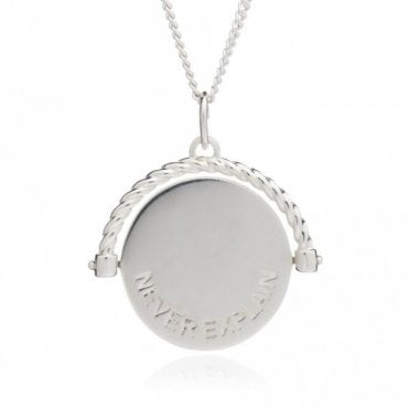 Never Complain Never Explain Spinning Necklace in Silver