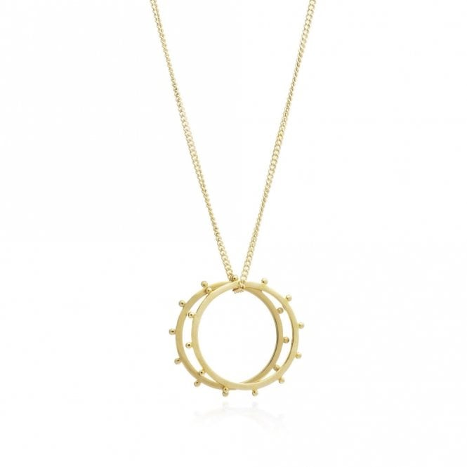 Rachel Jackson London Punk Rings Necklace in Gold