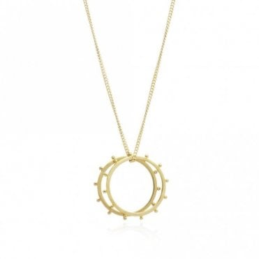 Punk Rings Necklace in Gold