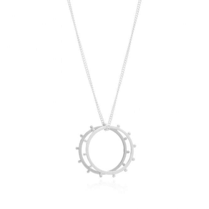 Rachel Jackson London Punk Rings Necklace in Sterling Silver