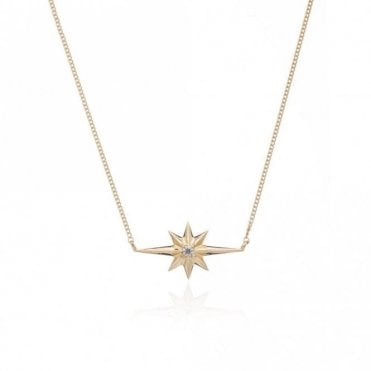 Shooting Star Diamond Necklace in Gold