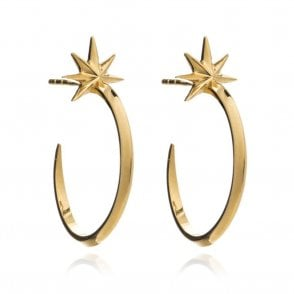 Rachel Jackson London Shooting Star Hoops in Gold