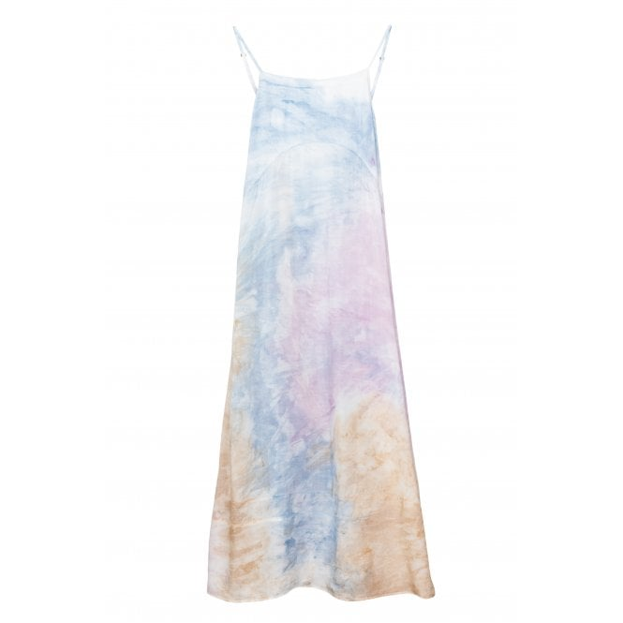 Long Strap Dress in Tie Dye