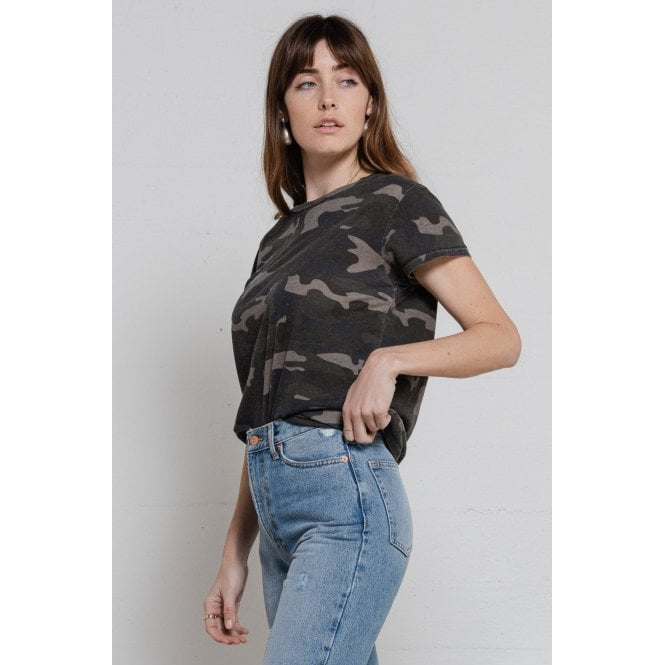 Vintage Tee in Camo Army
