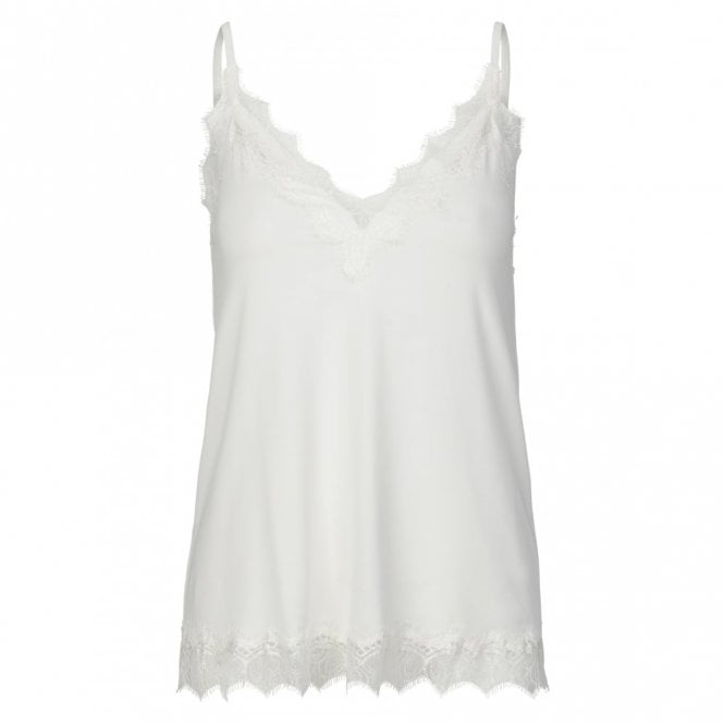 Rosemunde Strap Lace Top in Ivory