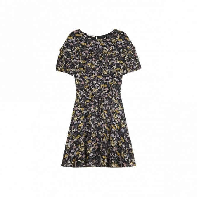 Sessun Lacy Floral Dress in Black