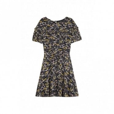 Lacy Floral Dress in Black