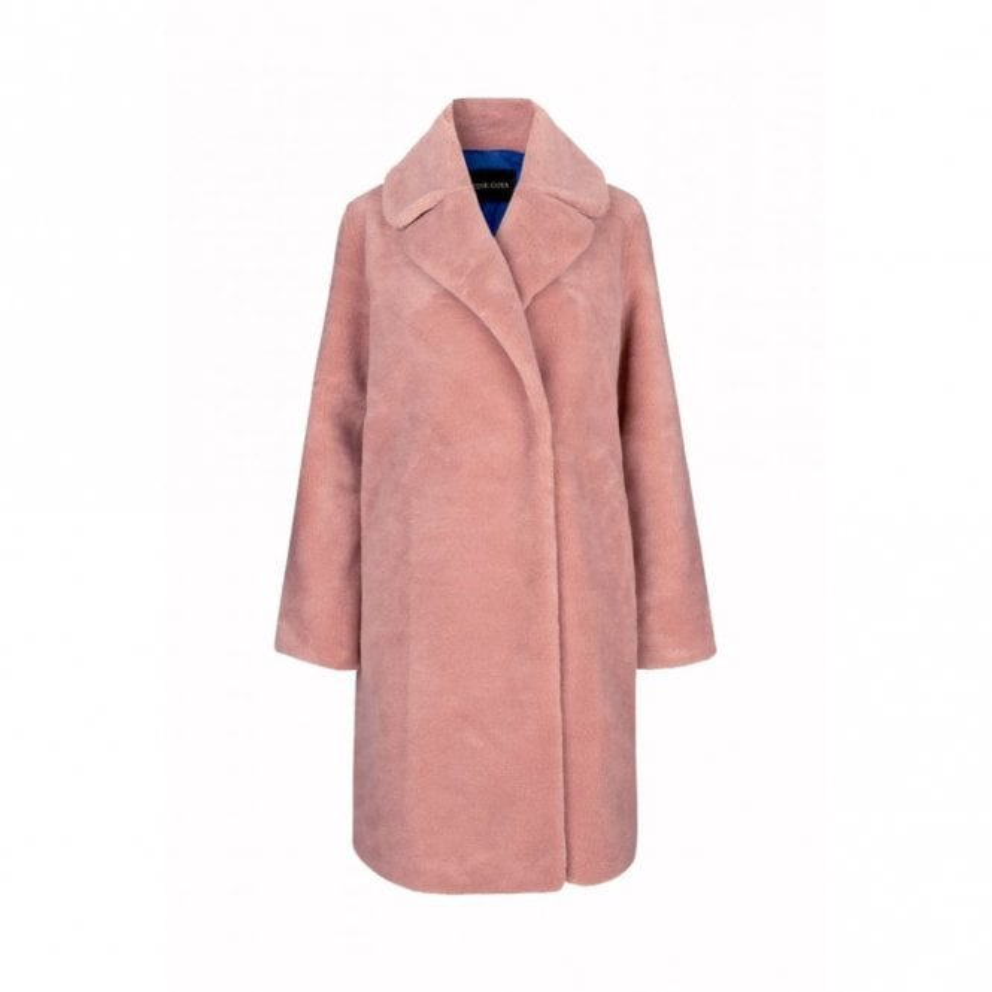 Stine Goya Concord Faux Fur Coat in Rosette Pink