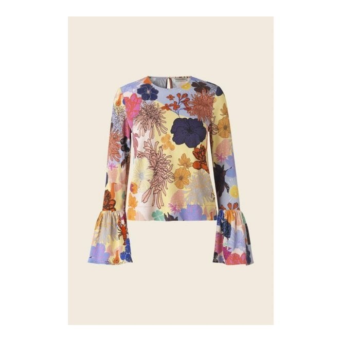 Stine Goya Emma Top in Colours and Shapes Print