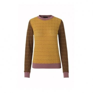 Naamah Merino Pullover in Colour Mix