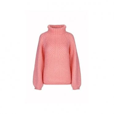 Nicholas Mohair Knit Jumper in Pink