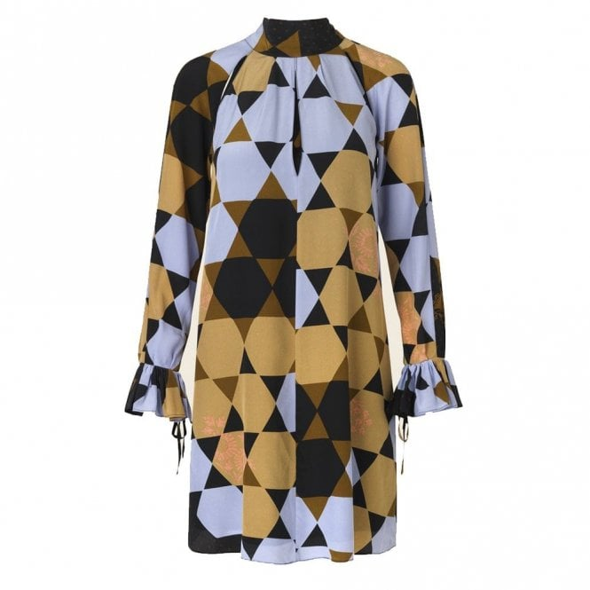 Stine Goya Tara Dress in Hexagons Amber