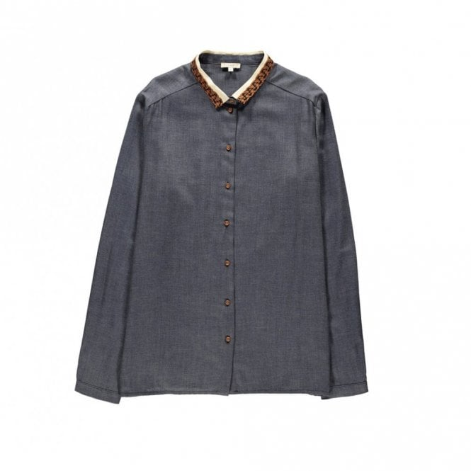 Tinsels Holly Blouse in Indigo