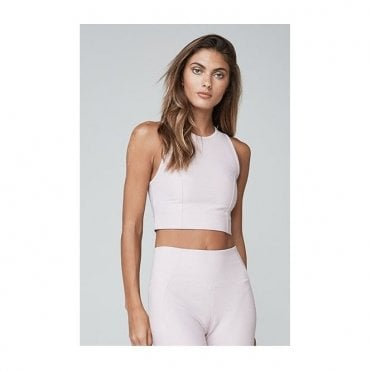 Agnes Crop Top in Chalk Pink