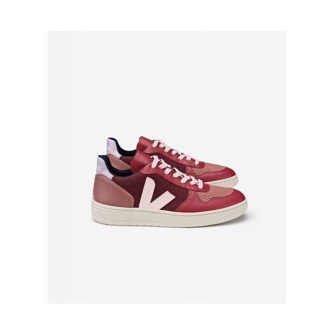 Veja V-10 Pixel Trainers in Multico Burgundy Lilas