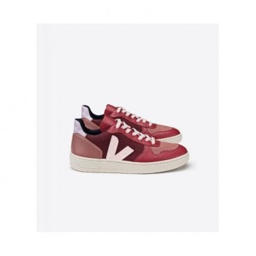 V-10 Pixel Trainers in Multico Burgundy Lilas