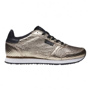 Ydun Metallic Trainers in Champagne