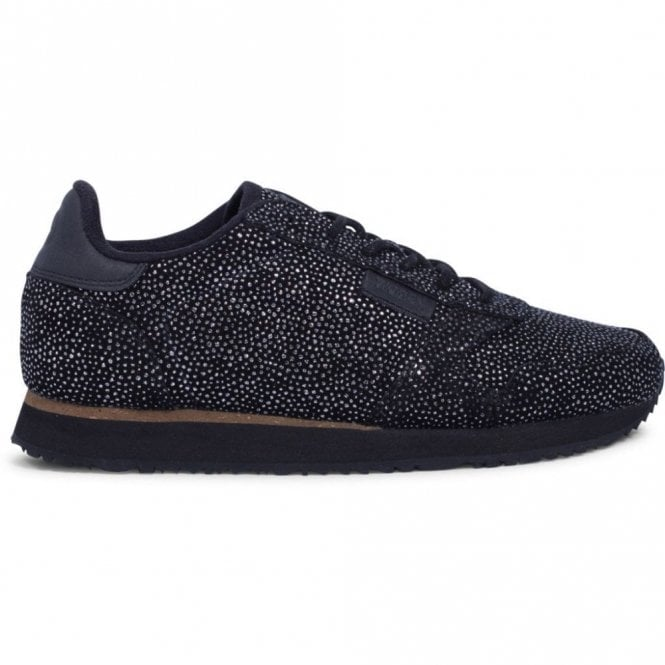 Woden Ydun Pearl Trainers in Black and Silver