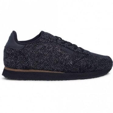Ydun Pearl Trainers in Black and Silver