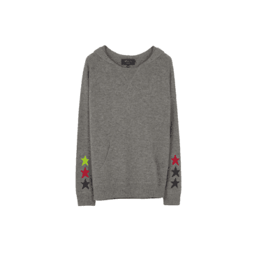 Ella Star Hoodie in Grey and Multicoloured