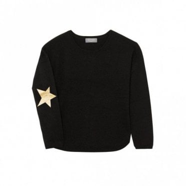 Juliet Star Cashmere Jumper in Black and Gold